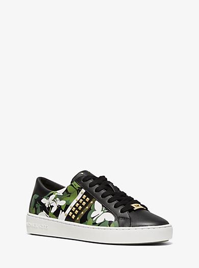separation shoes dbbe2 e72a0 Zapatilla Keaton de piel con estampado de camuflaje de mariposas