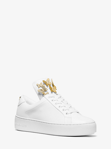 5f56f385afe5 Mindy Butterfly Appliqué Leather Sneaker. michael michael kors ...