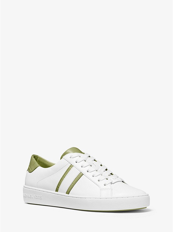 Irving Two-Tone Stripe Leather Sneaker