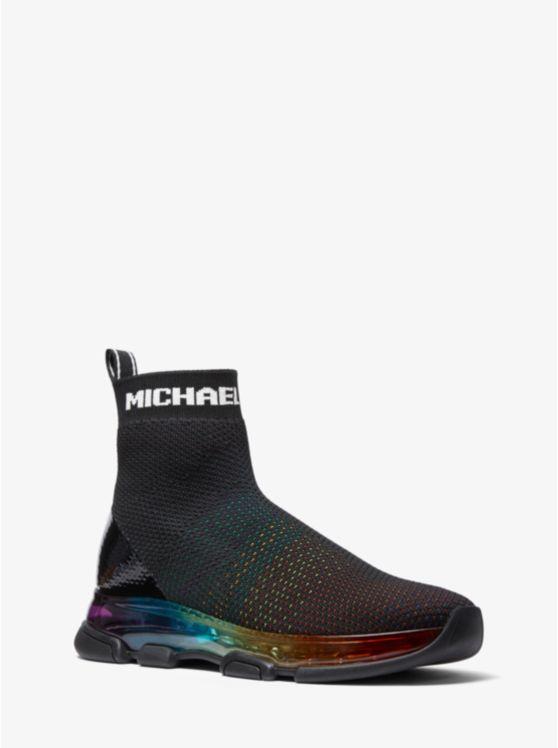 Kendra Rainbow Stretch Knit Sock Sneaker