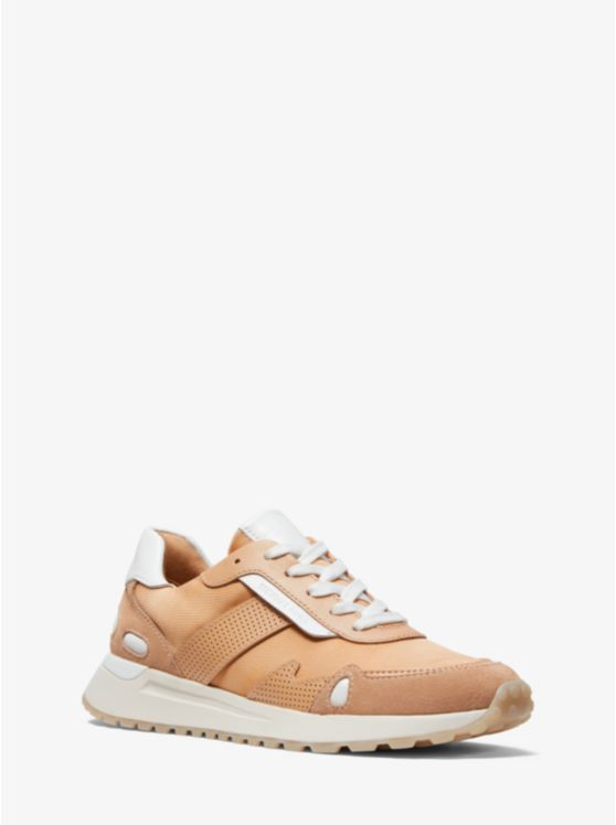 Monroe Two-Tone Canvas and Leather Trainer
