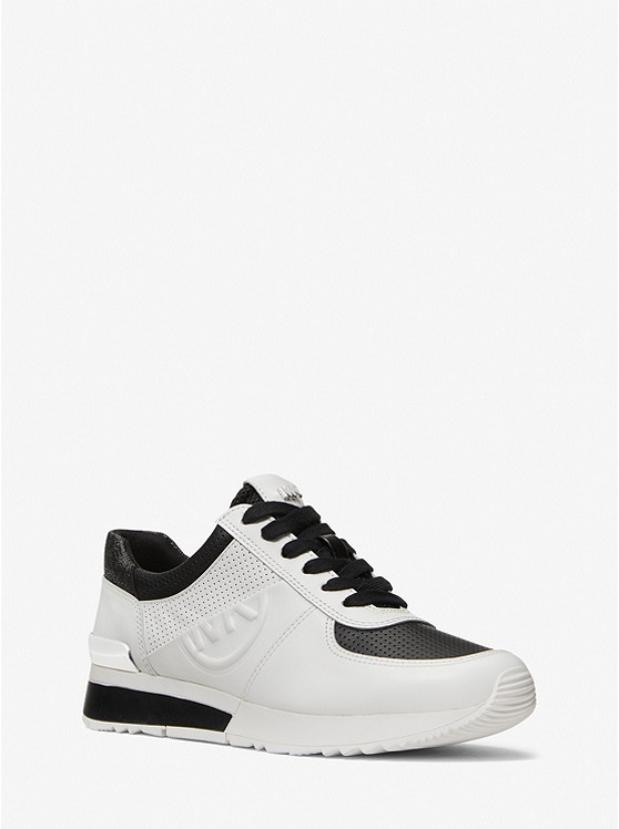 Allie Perforated Leather Trainer