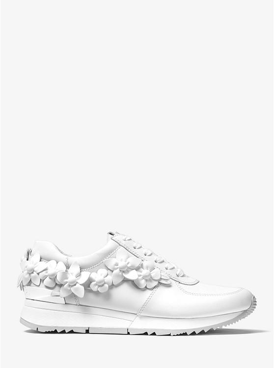 ea7ab58c7810 Allie Floral Appliqué Leather Sneaker Allie Floral Appliqué Leather Sneaker  ...
