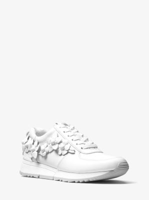 SneakerMichael Floral Appliqué Allie Leather Kors K1JlFTc3