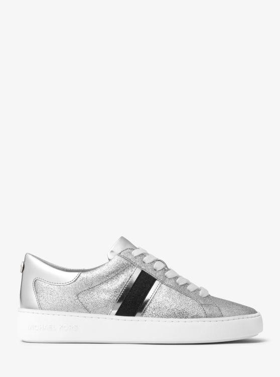 Keaton striped glitter sneakers