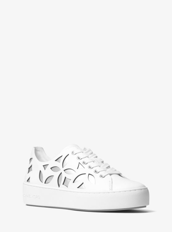Mimi Perforated Leather Sneaker by Michael Michael Kors