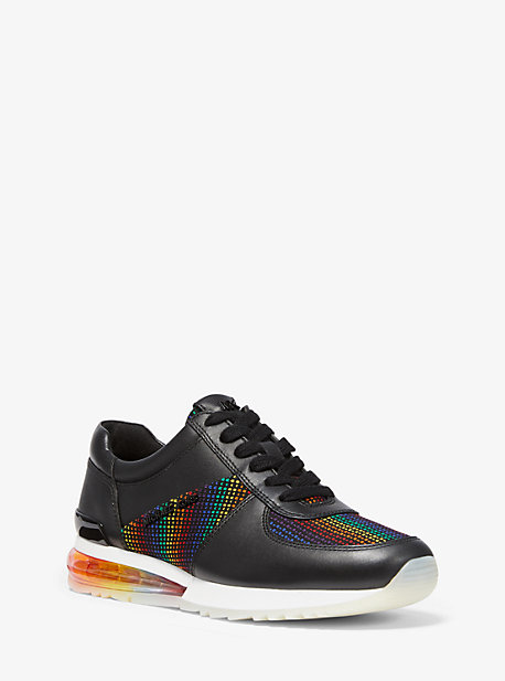 Allie Extreme Leather and Rainbow Knit Trainer