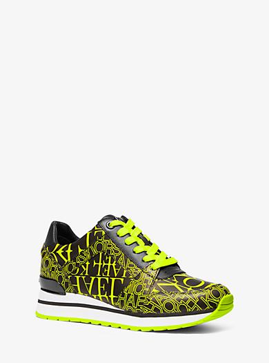 e21a967a054c23 Sneaker Billie in pelle con logo effetto giornale