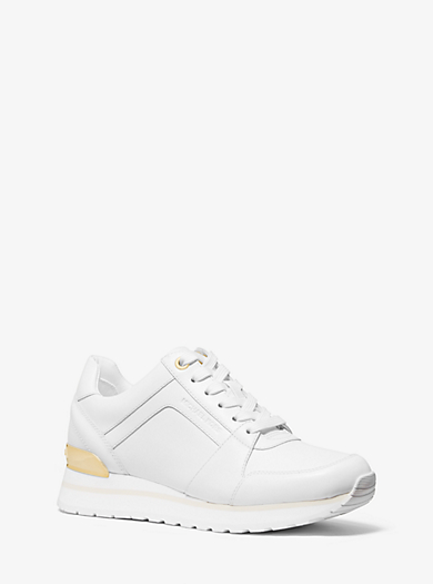 ad709c3a9cde michael michael kors · Mindy Studded Leather Sneaker · £160.00£160.00. WHITE PALE  GOLD. OPTIC WHITE SILVER. Billie Leather Trainer