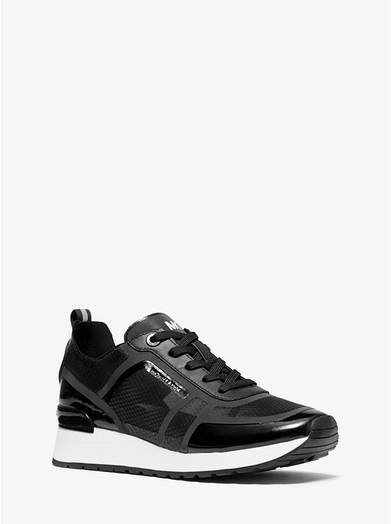 Eddy Nylon And Leather Trainer | Michael Kors