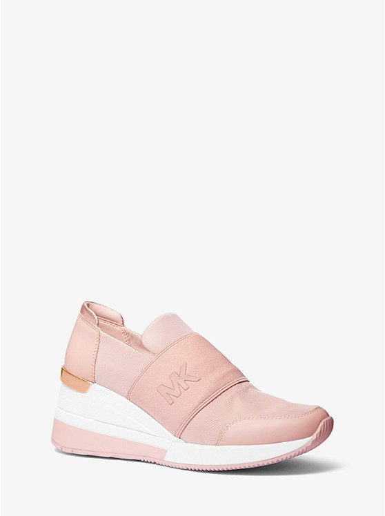 Felix Canvas And Leather Trainer by Michael Kors