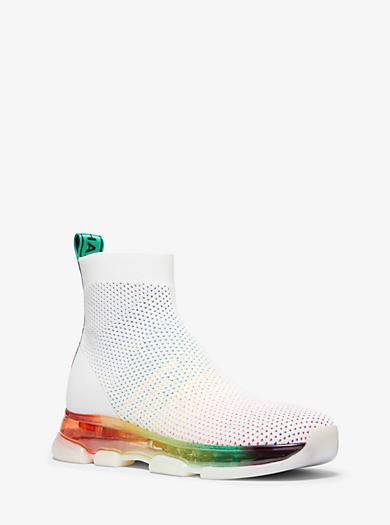 7b990101c8 Kendra Stretch-Knit Mesh Sock Sneaker. michael michael kors ...