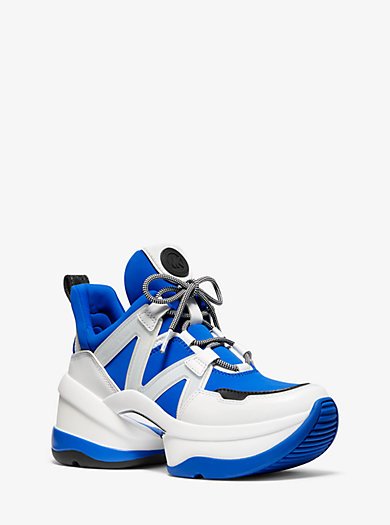 32db886db1 Sneaker Olympia in pelle e tessuto scuba · michael michael kors ...