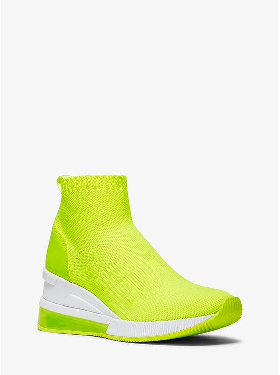 Skyler Extreme Neon Stretch Knit Sock Sneaker by Michael Michael Kors
