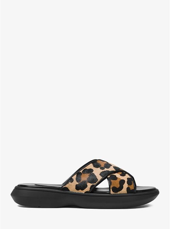 80a54131111e Daphne Leopard Calf Hair Slide Sandal Daphne Leopard Calf Hair Slide Sandal  ...