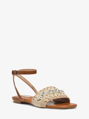 bdc80e799 Hadden Embellished-Rope and Leather Sandal