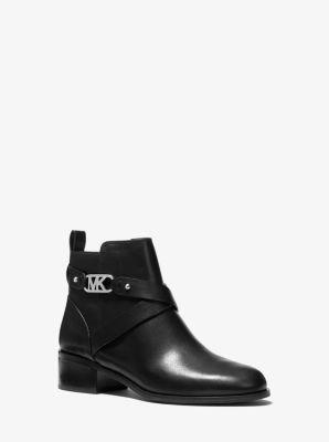 마이클 마이클 코어스 킨케이드 가죽 앵클 부츠 - 블랙 Michael Michael Kors Kincaid Ankle Boot,BLACK
