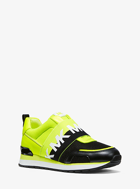 vast selection great deals 2018 shoes Teddi Neon Mesh and Leather Slip-On Trainer | Michael Kors