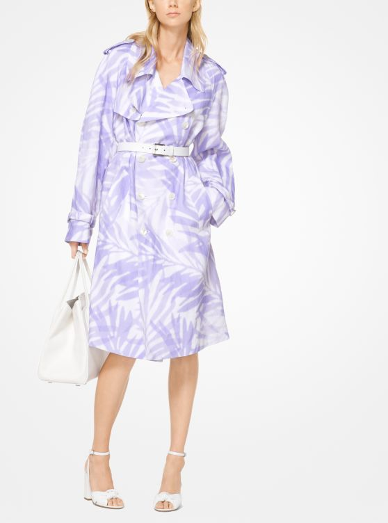 Palm Linen Trench Coat by Michael Kors Collection