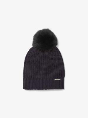 Fur Pom-Pom Beanie  306cdaaf6d5