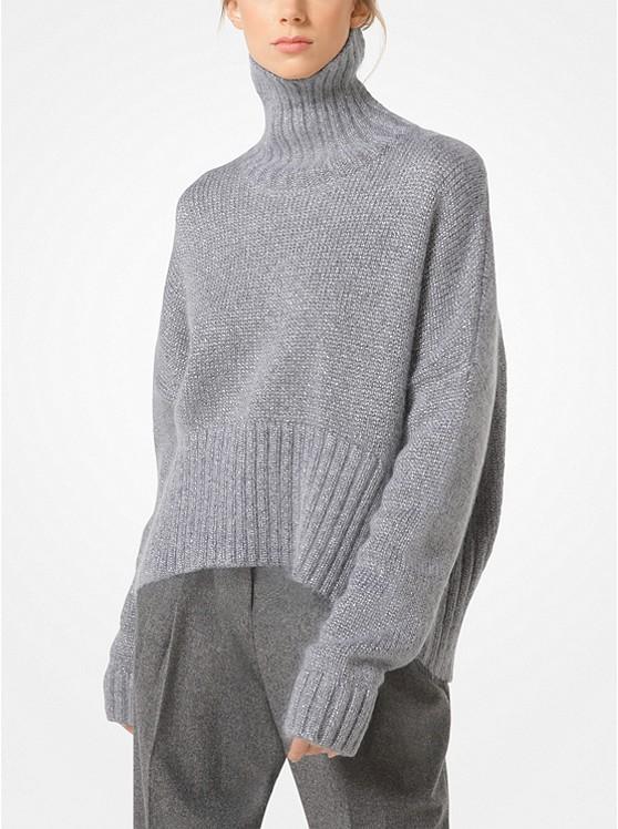 Metallic Mohair Pullover