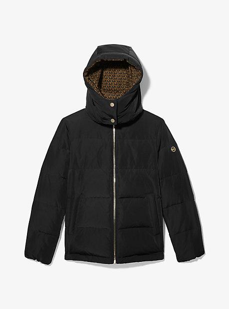 마이클 마이클 코어스 숏패딩 Michael Michael Kors Logo-Lined Quilted Puffer Jacket,BLACK