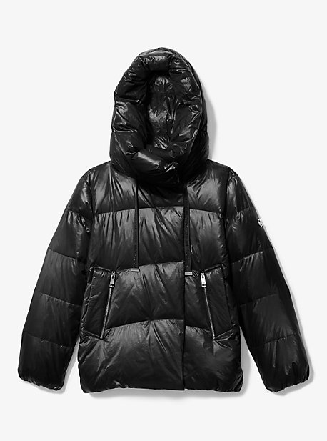 마이클 마이클 코어스 발수 경량 숏패딩 - 블랙 Michael Michael Kors Quilted Nylon Puffer Jacket