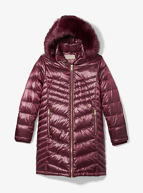 마이클 마이클 코어스 에코퍼 롱패딩 Michael Michael Kors Faux Fur Quilted Puffer Coat