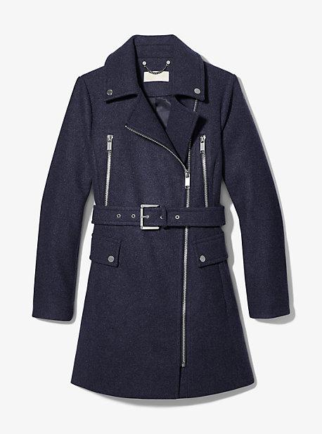 마이클 마이클 코어스 울 혼방 지퍼 코트 Michael Michael Kors Wool Blend Zip Front Coat