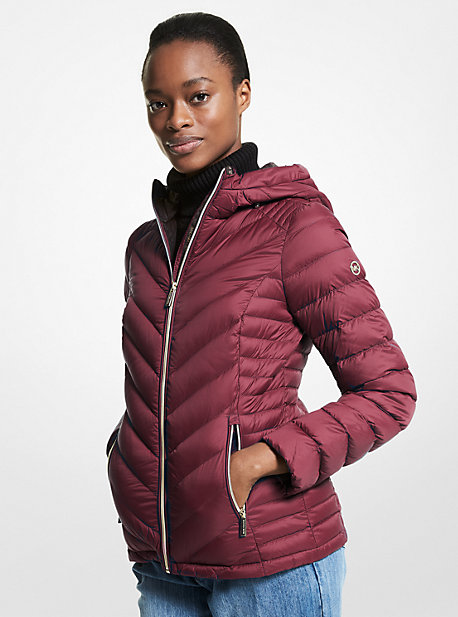 Kors Quilted Nylon Packable Puffer Coat