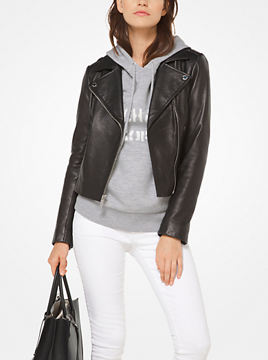michael michael kors · Leather Biker Jacket · $495.00$495.00 · QUICKVIEW