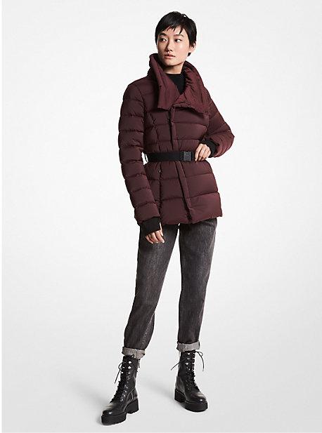 마이클 마이클 코어스 패커블 롱패딩 Michael Michael Kors Asymmetrical Quilted Nylon Packable Puffer Jacket