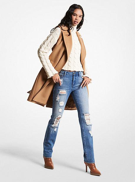 마이클 마이클 코어스 랩 조끼 Michael Michael Kors Wool Blend Wrap Vest