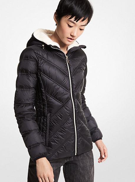 마이클 마이클 코어스 패커블 롱패딩 Michael Michael Kors Faux Fur-Lined Quilted Nylon Packable Puffer Jacket