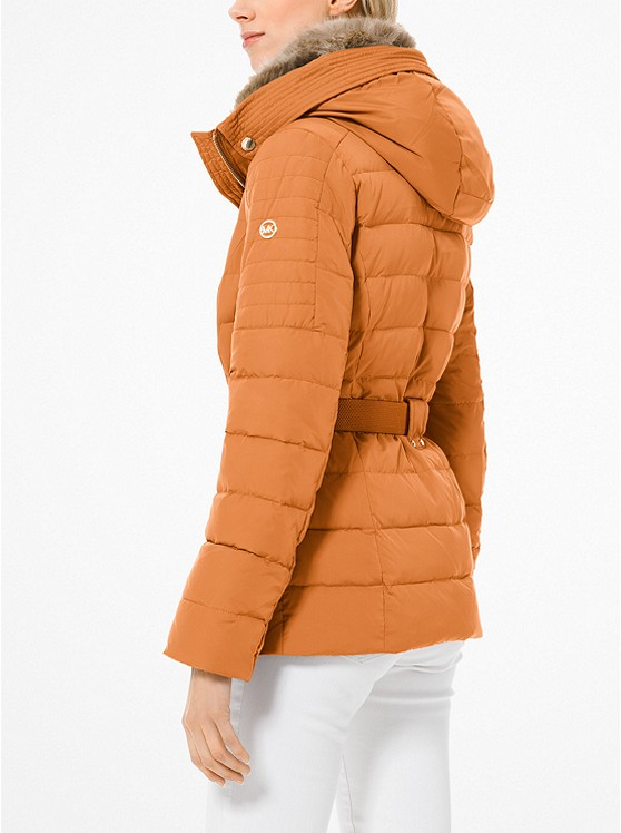 27963f94c33e ... Quilted Down and Faux Fur Puffer Jacket
