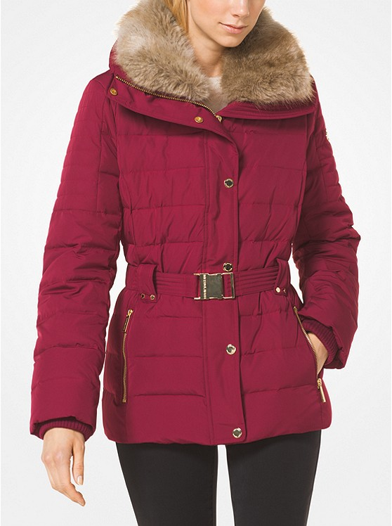 22524f325ea7 Quilted Down And Faux Fur Puffer Jacket