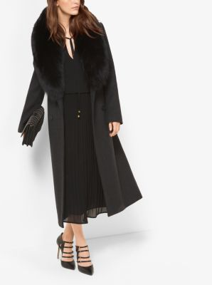 Fur-Trimmed Wool and Cashmere Coat | Michael Kors