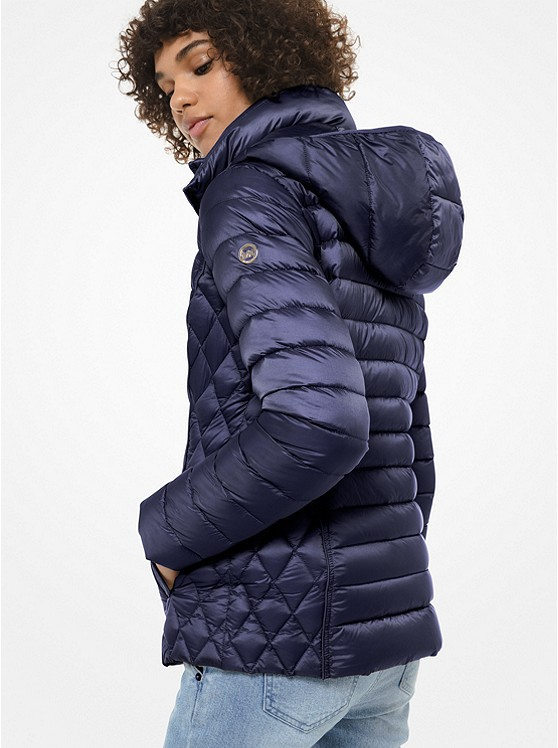 Quilted Nylon Packable Puffer Jacket