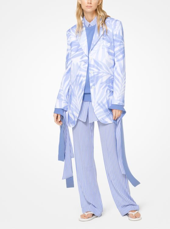 Palm Linen Blazer by Michael Kors Collection