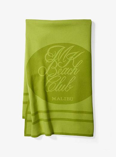 311323a872303 Cotton And Cashmere Mk Beach Club Towel | Michael Kors