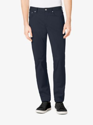 tailored/classic-fit stretch-twill five-pocket pants | michael kors