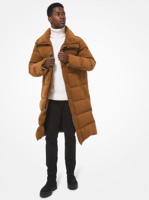 마이클 코어스 맨 코트 Michael Kors Quilted Cotton Puffer Coat,CARAMEL