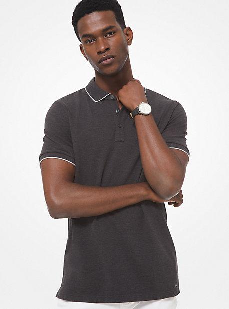 마이클 코어스 맨 폴로 셔츠 Michael Kors Cotton Polo Shirt,CHARCOAL