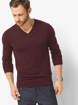Merino Wool V Neck