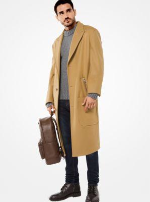 wool-melton coat | michael kors