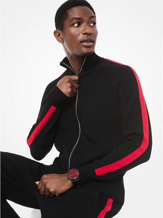 Kors X Tech Knit Track Jacket by Michael Kors Mens