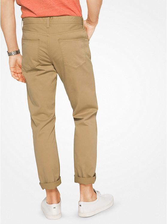 ... Slim-Fit Cotton-Twill Five-Pocket Pants