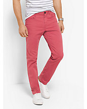 Slim-Fit Cotton-Twill Trousers