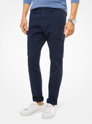 cotton-faille cargo pants | michael kors