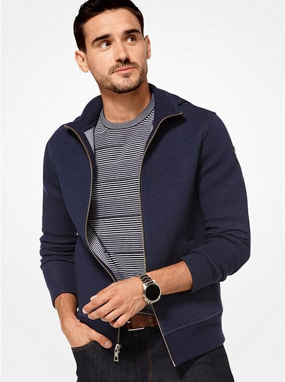 Cotton Neoprene Zip-Up Hoodie